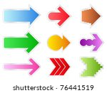 colorful vector arrows on white ...