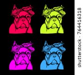 french bulldog. vector... | Shutterstock .eps vector #764416318