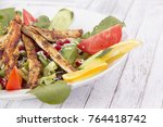 chicken salad close up | Shutterstock . vector #764418742