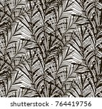 vector black decorative... | Shutterstock .eps vector #764419756