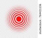 transparent concentric circle... | Shutterstock .eps vector #764421136