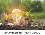 energy saving light bulb and... | Shutterstock . vector #764422432