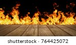 wood top divides 1 to 2 parts... | Shutterstock . vector #764425072