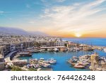 beautiful view of the kyrenia... | Shutterstock . vector #764426248