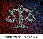 balance network line abstract... | Shutterstock .eps vector #764428942
