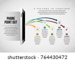 vector illustration of phone... | Shutterstock .eps vector #764430472
