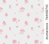 seamless texture with floral... | Shutterstock .eps vector #764430742