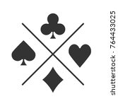 suits of playing cards glyph...   Shutterstock .eps vector #764433025