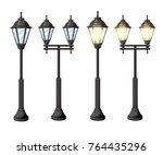 vintage streetlights vector