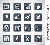 education icon set | Shutterstock .eps vector #764436316