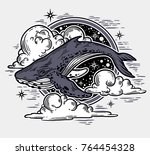 beautiful hand drawn artwork of ... | Shutterstock .eps vector #764454328