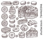 sketch vector collection of... | Shutterstock .eps vector #764463346