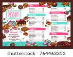 vector design of dessert menu... | Shutterstock .eps vector #764463352
