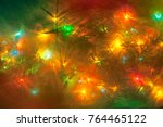 festive holiday background of... | Shutterstock . vector #764465122
