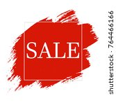 red blobs sale banner  vector