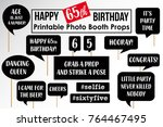 set of funny sixty fifth... | Shutterstock .eps vector #764467495
