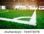 corner line of an indoor... | Shutterstock . vector #764473078