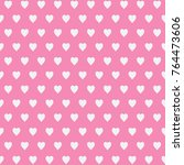 seamless pattern with hearts   Shutterstock .eps vector #764473606
