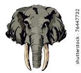 elephant | Shutterstock .eps vector #76447732