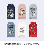 trendy gift tags bundle | Shutterstock .eps vector #764477992