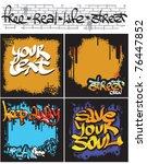 four seamless graffiti... | Shutterstock .eps vector #76447852