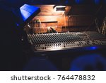 workplace of sound engineer. | Shutterstock . vector #764478832