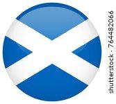 scotland flag glossy button   Shutterstock .eps vector #764482066