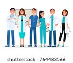 physicians in uniform isolated... | Shutterstock . vector #764483566