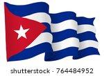 cuba flag waving isolated on... | Shutterstock .eps vector #764484952