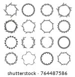 collection of different black... | Shutterstock .eps vector #764487586
