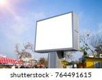 billboard mockup white frame | Shutterstock . vector #764491615