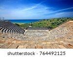 ancient kourion  cyprus  april... | Shutterstock . vector #764492125