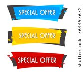 special offer sale banner for... | Shutterstock .eps vector #764497672