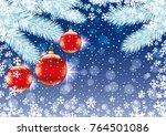 christmas background with red... | Shutterstock .eps vector #764501086