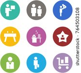 origami corner style icon set   ... | Shutterstock .eps vector #764503108