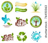 ecology icons and design... | Shutterstock .eps vector #76450363