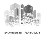 building and city illustration. ... | Shutterstock . vector #764504275