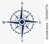 wind rose compass  vector... | Shutterstock .eps vector #764504776