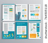 business brochure template... | Shutterstock .eps vector #764505118