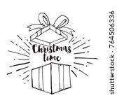 hand drawn christmas present... | Shutterstock .eps vector #764506336