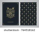 christmas greeting card design. ...   Shutterstock .eps vector #764518162