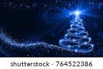 shining christmas tree   Shutterstock . vector #764522386