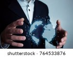 concept of global connection...   Shutterstock . vector #764533876