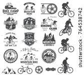 set of mountain biking clubs... | Shutterstock .eps vector #764538742