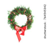 christmas wreath isolated | Shutterstock . vector #764545342