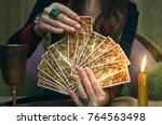 Tarot Cards On Fortune Teller...