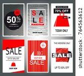 set of sale banner templates.... | Shutterstock .eps vector #764563612