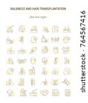 vector graphic set. icons in... | Shutterstock .eps vector #764567416