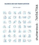 vector graphic set. icons in... | Shutterstock .eps vector #764567566
