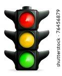 traffic lights  10eps | Shutterstock .eps vector #76456879